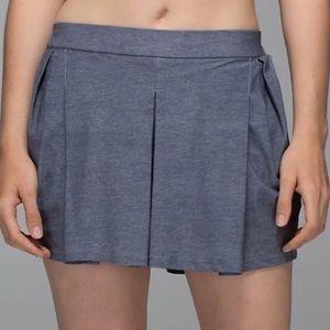 Lululemon City summer skort shorts skirt deep coal